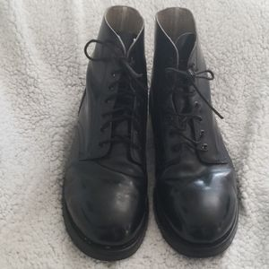 Authentic Military Leather Drill Boots
